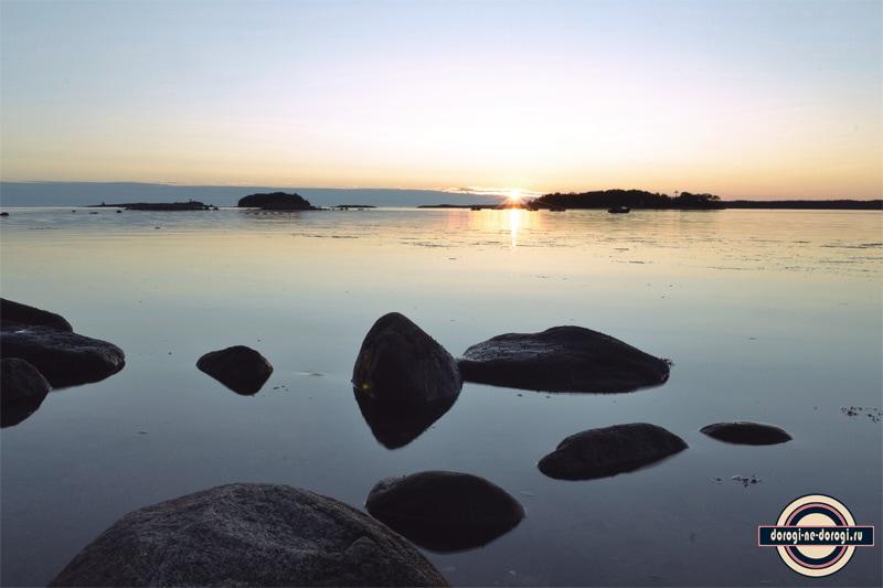 Закат на Соловках