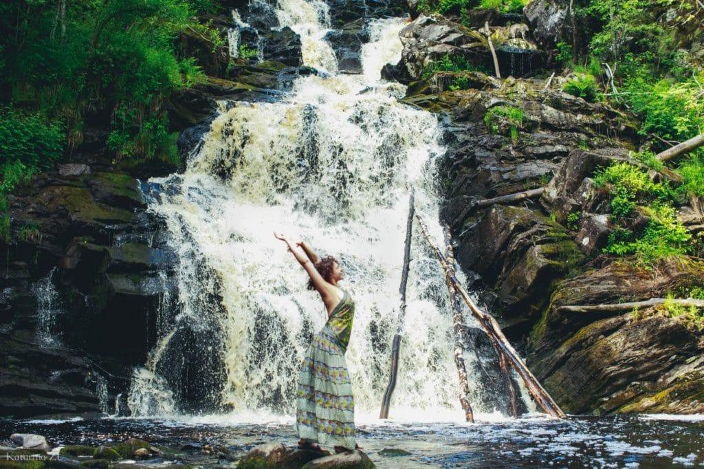Водопад Юканкоски /Автор фото Екатерина Зю