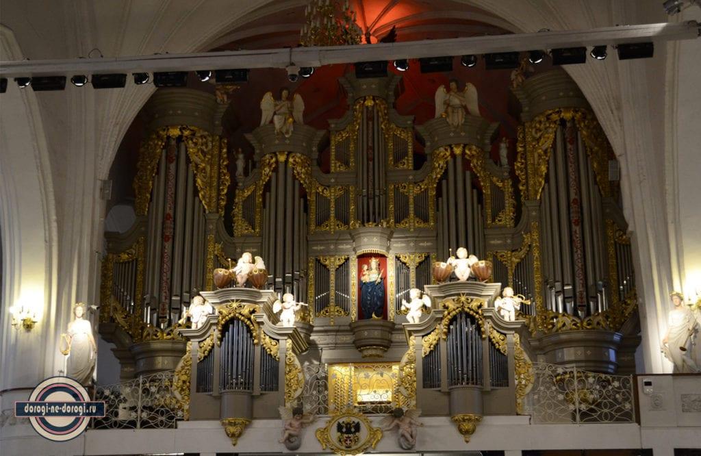 Кафедральный собор в Калининграде.Орган.