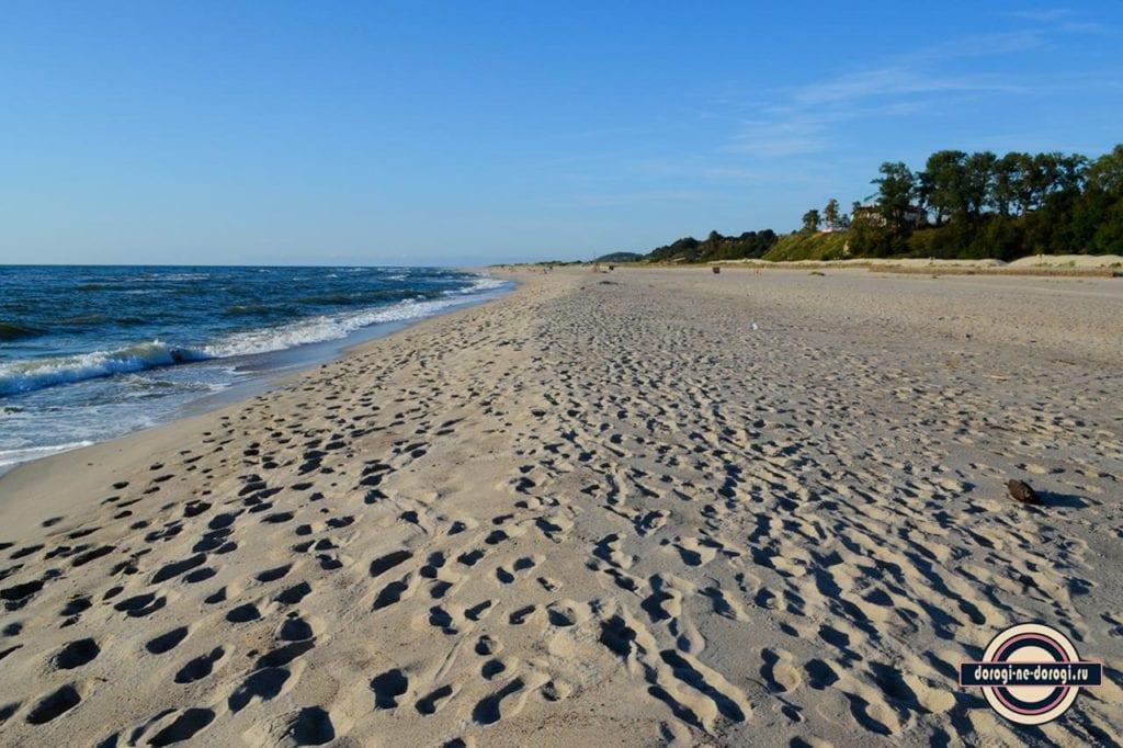 Пляжи Калининградской области: Пляж в Янтарном