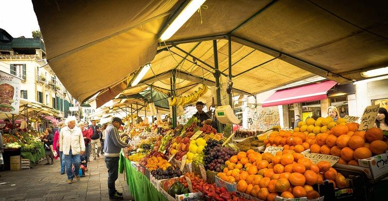 Овощной рынок в Венеции