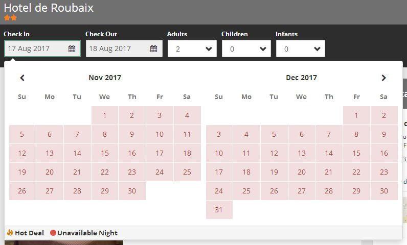 Hôtel de Roubaix на официальном сайте нет номеров