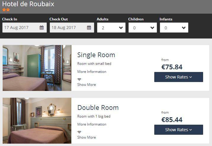 Hôtel de Roubaix официальный сайт