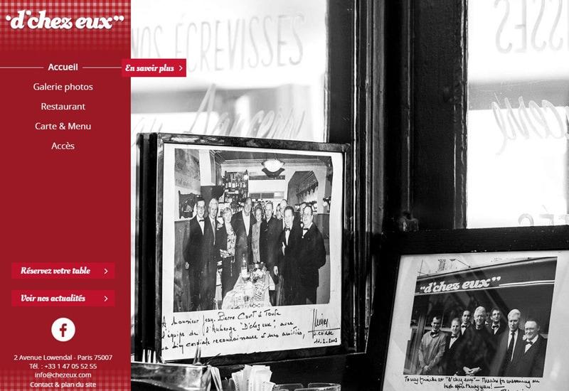 Официальный сайт ресторана D'Chez eux - показаны фотографии со знаменитостями