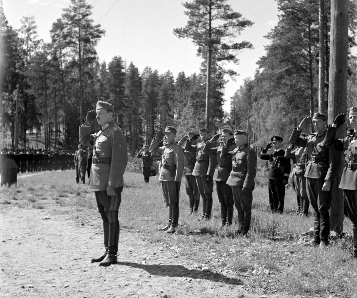 Маршал Маннергейм на параде, 30.05.1943