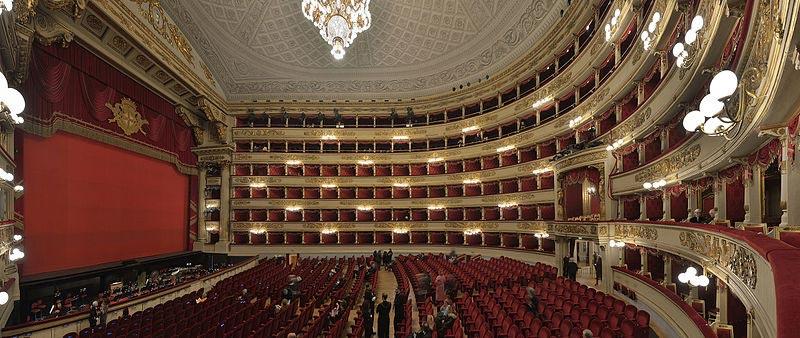 Интерьер Театра-ла-Скала