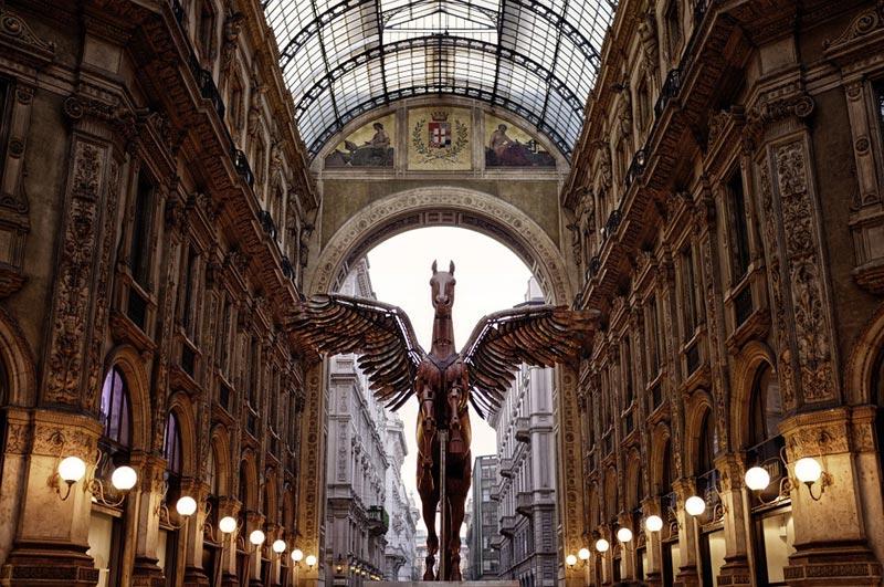 Пегас в галлерее Милана