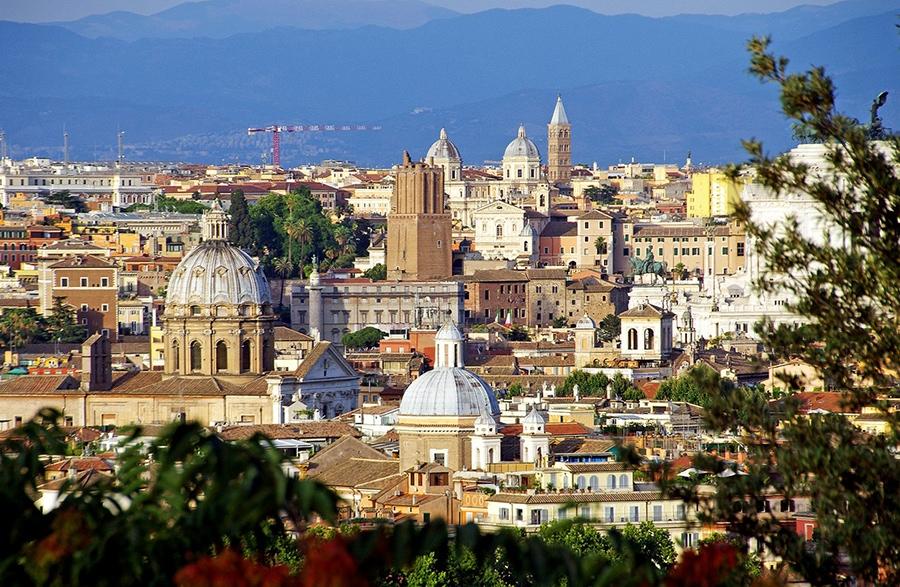 Где остановиться в Риме. Вид на город.