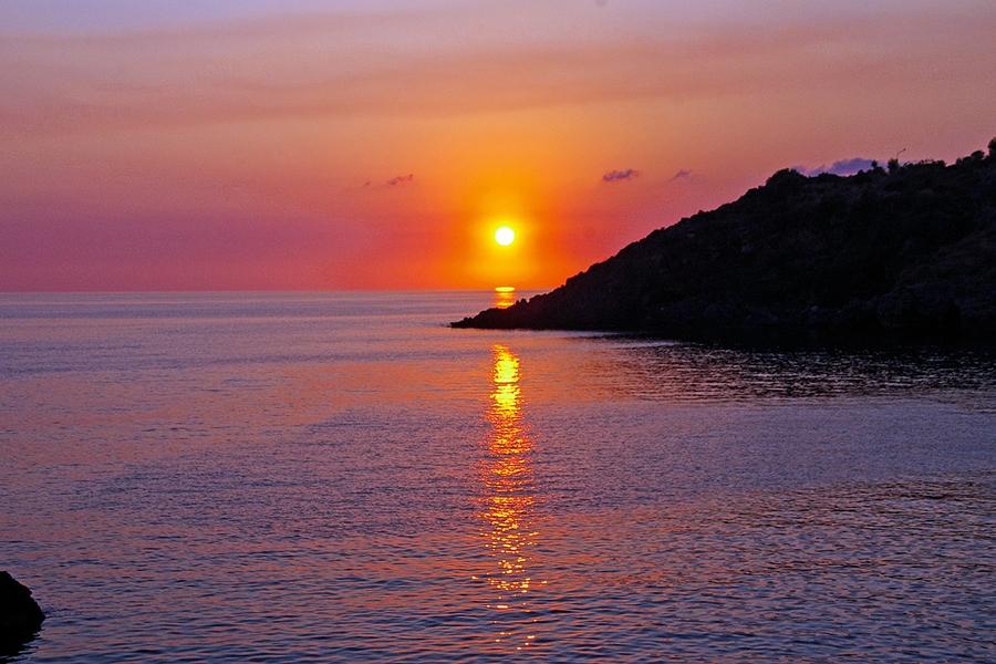 Закаты на Тирренском побережье очень красивы