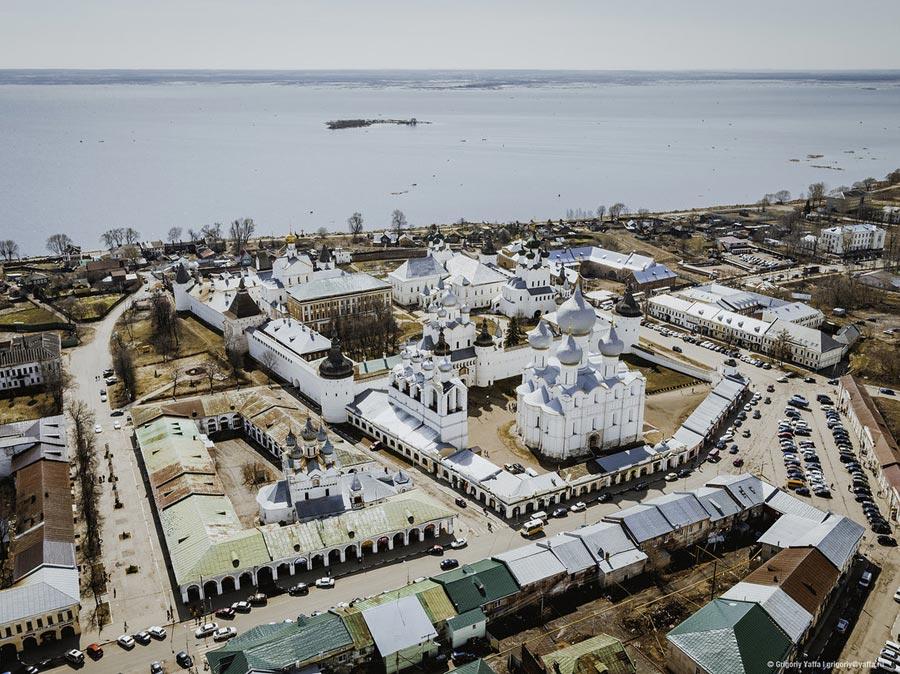 Ростовский кремль с воздуха.