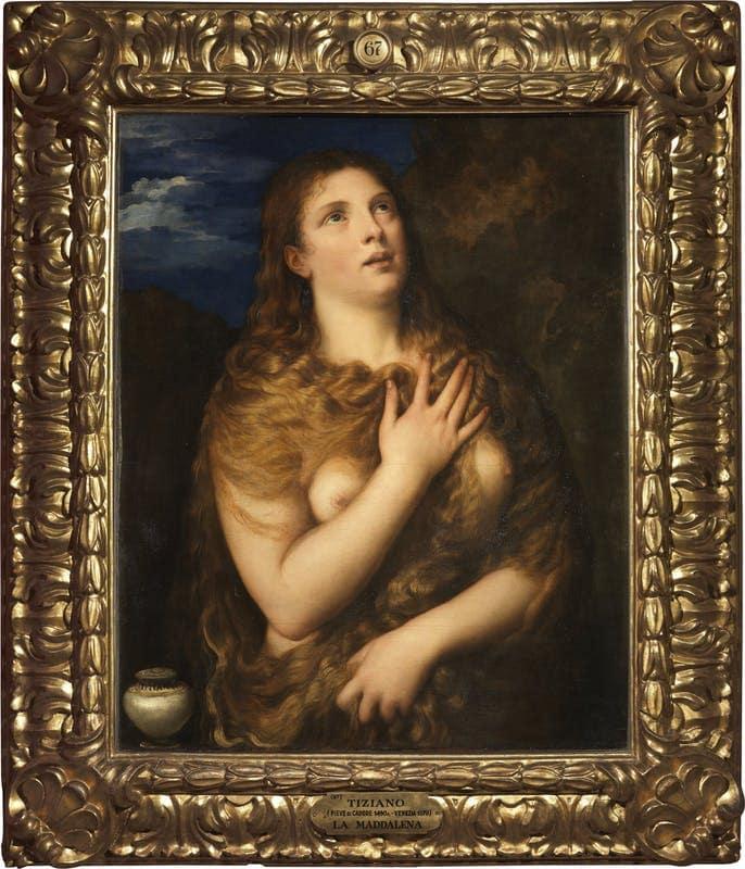 """""""Кающаяся Мария Магдалина"""" кисти великого Тициана. Художник создал 3 похожих картины на этот сюжет. Одна из них находится в нашем Эрмитаже, вторая - в Палатинской галерее Палаццо Питти"""