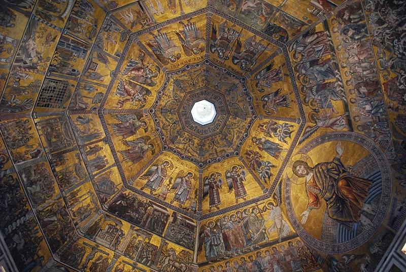 Роспись купола внутри собора