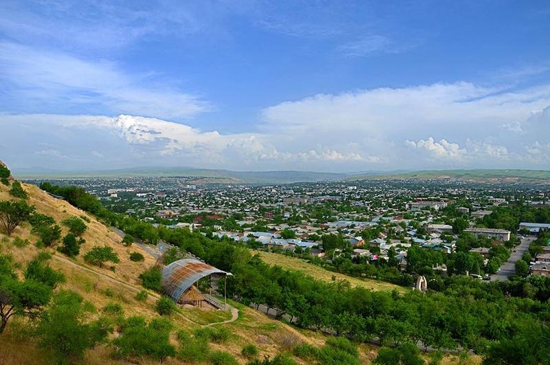 Вид на город Ош с Сулайман Тоо
