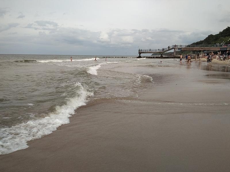 Пляж в Светлогорске. Начало августа