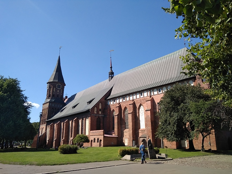 Кафедральный собор в Калининграде - одно из немногих мест города, которое уцелело во время Второй Мировой войны