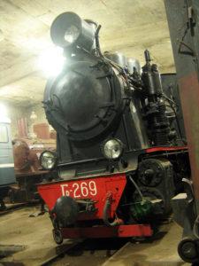 Один из трех паровозов музея