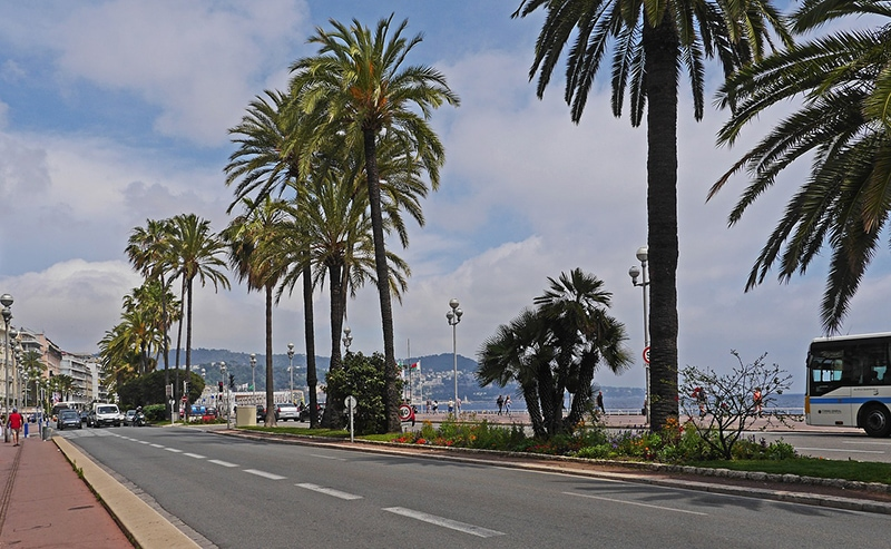 Что посмотреть в Ницце: Английская набережная (Promenade des Angle) — самая известная во Франции набережная