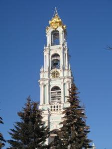 Верхняя часть колокольни Троице-Сергиевой Лавры