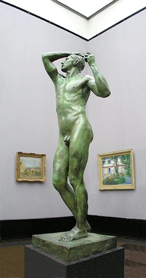 """Скульптура Огюста Родена """"Бронзовый век"""""""