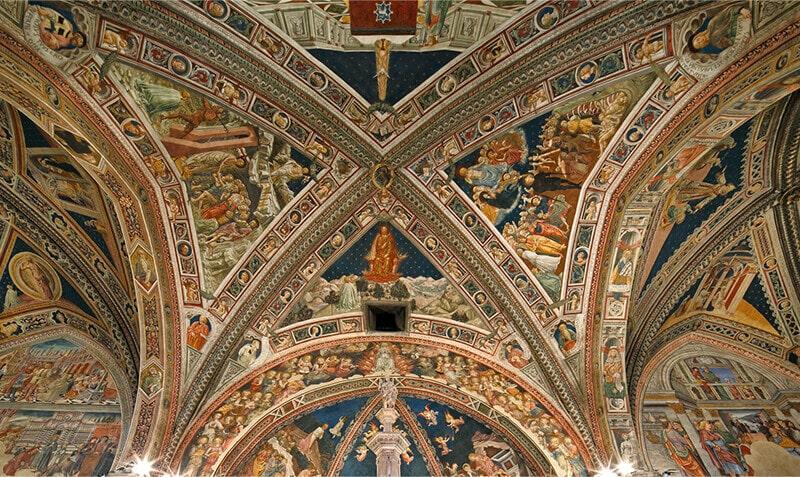 Роспись свода Баптистерия сиенского собора авторства Лоренцо ди Пьетро (Vecchietta)