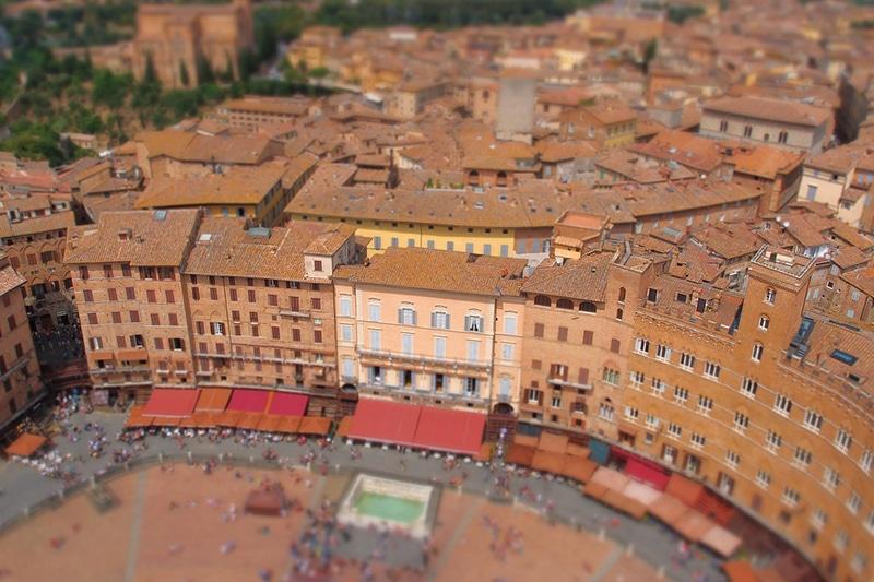 """Piazza del Campo - """"сердце"""" Сиены. Фото снято с башни Torre del Mangia"""