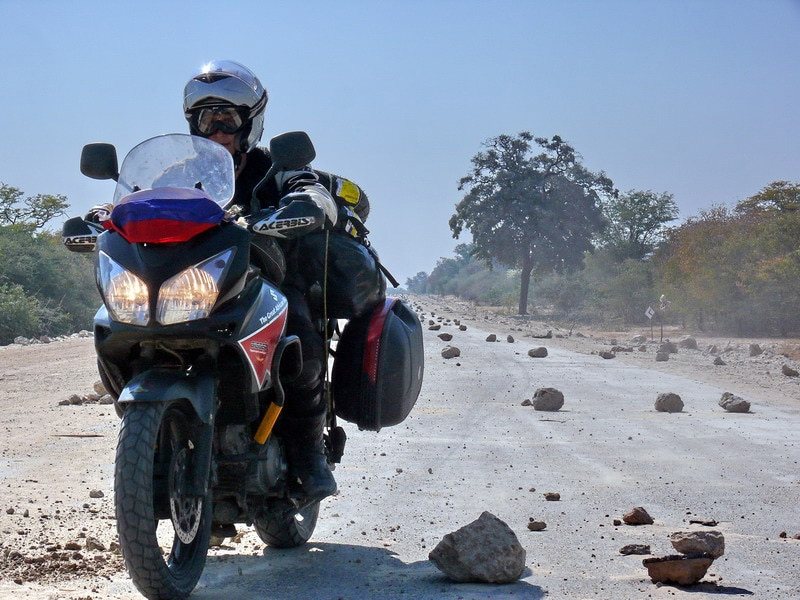 Григорий Кубатьян на мотоцикле