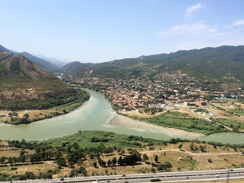 Вид от монастыря Джвари на Мцхету