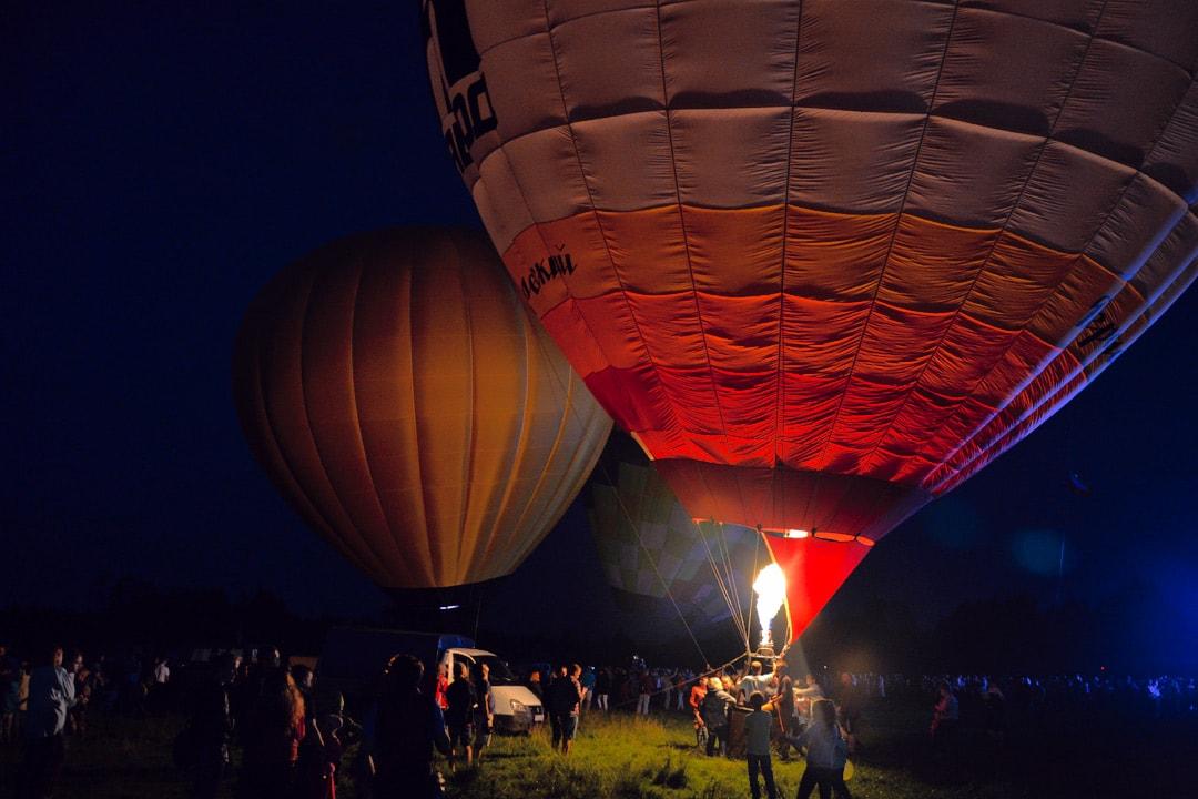 Демонстрация воздушных шаров на Поповом лугу.