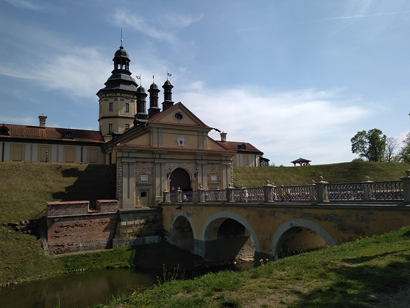 Вход на территорию Несвижского замка