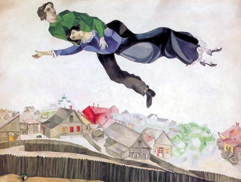 Очертания любимого города можно узнать на одной из самых известных картин Марка Шагала