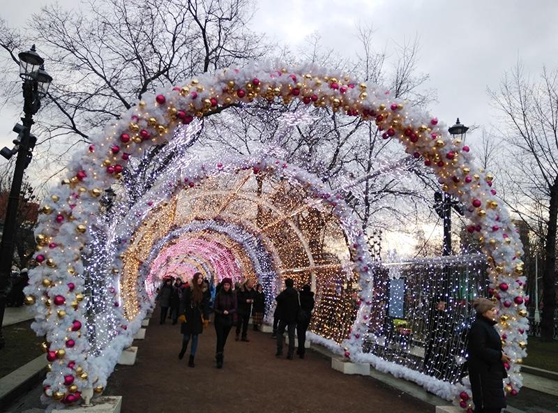 Прогулка в Рождество по Тверскому бульвару