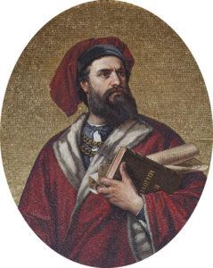 Мозаика с изображением путешественника Марко Поло