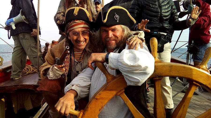 Итальянские пираты на борту «Штандарта», съемки 2016 года