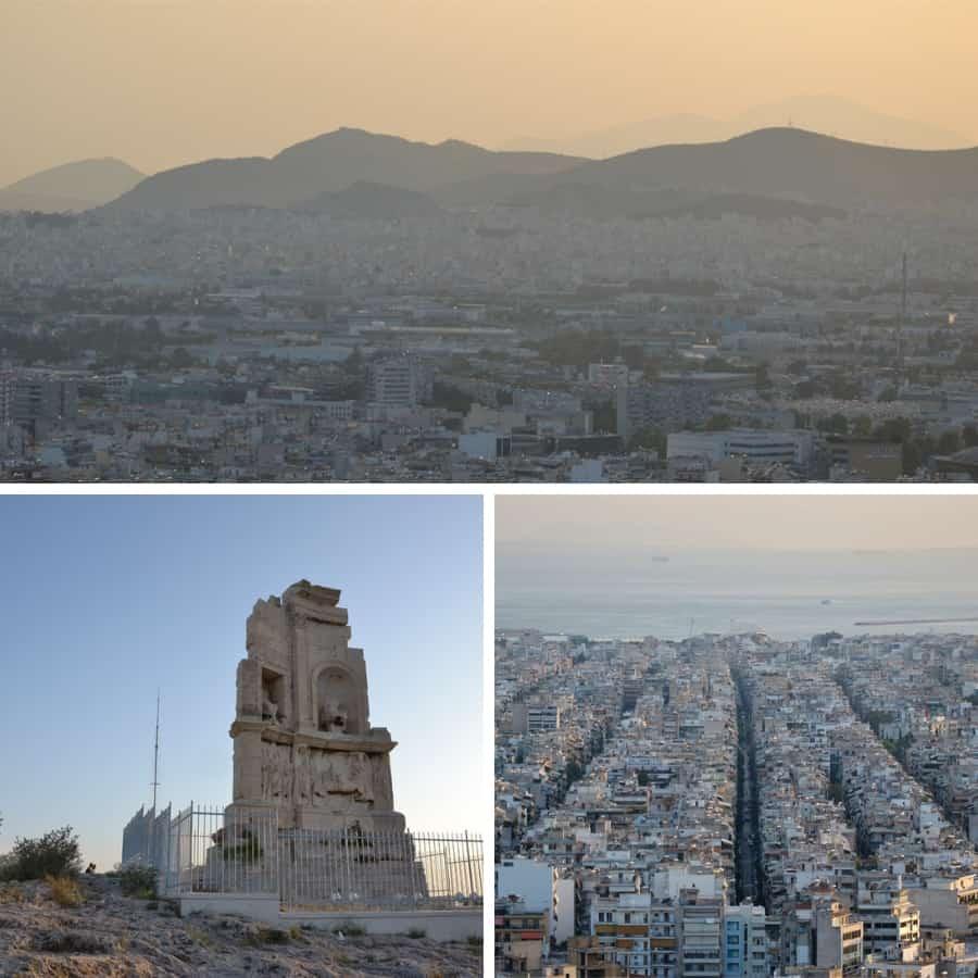 Вид с холма Филопаппа на Афины