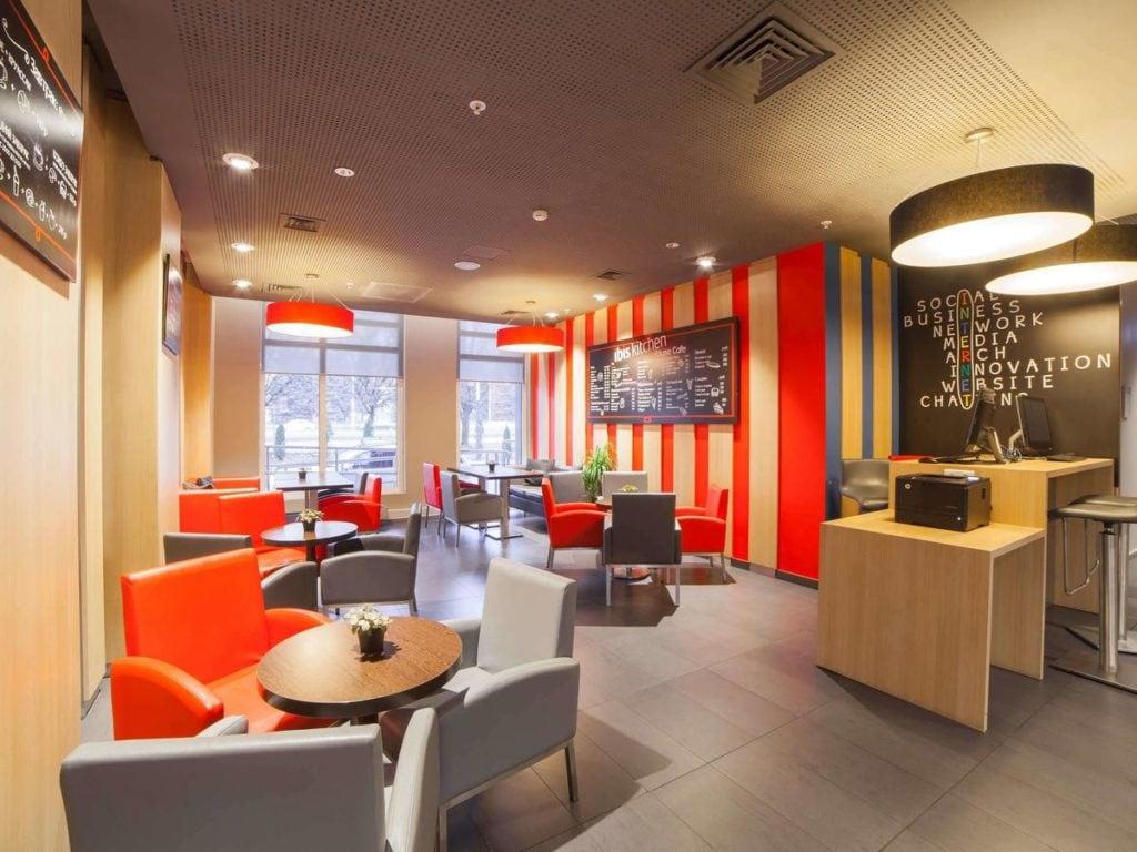 Кафе в отеле Ibis в центре Калининграда