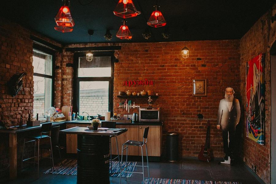 Общая кухня в арт-хостеле/фото с booking.com