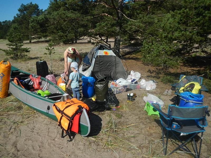 Наш лагерь на Койонсари — первое утро в походе