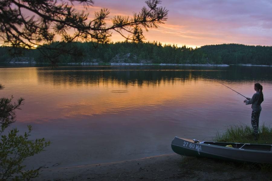 Рыбалка на закате на одной из стоянок