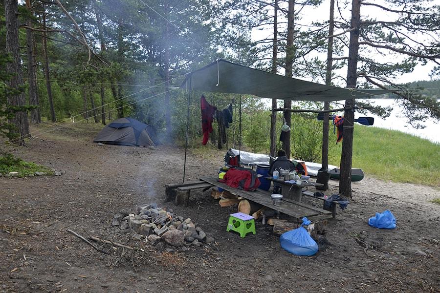Наш лагерь в бухте Ванхалахти