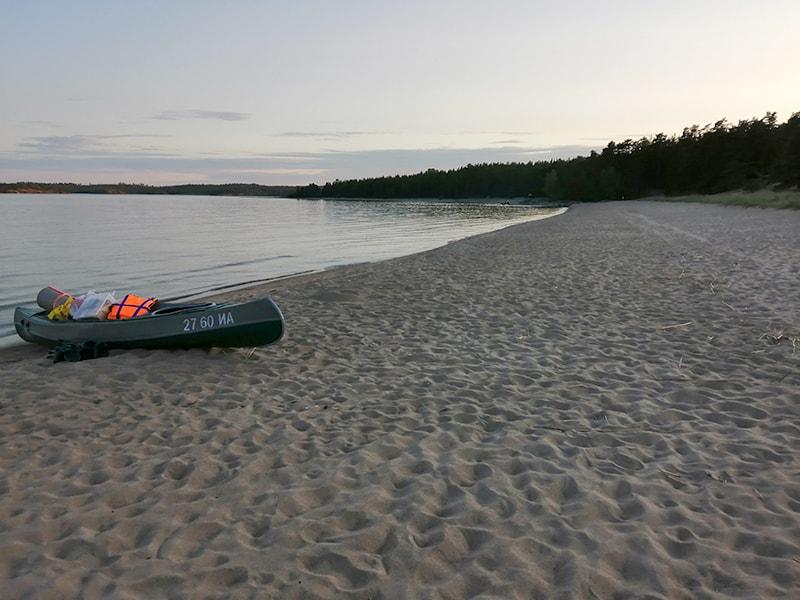 Песчаный пляж на Койонсаари