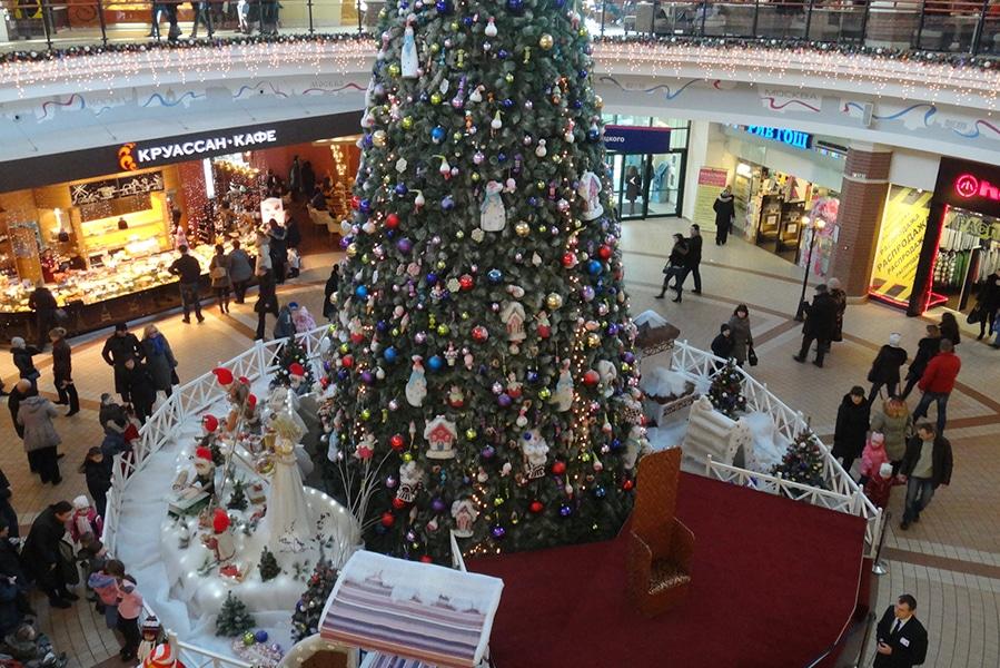 Главная елка торгового центра «Европа»