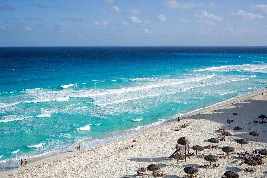 На пляже в Канкуне