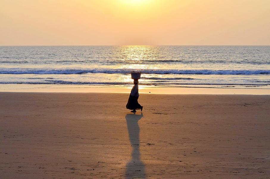 Закат на пляже в Гоа. Вот куда стоит поехать на Новый год за границу