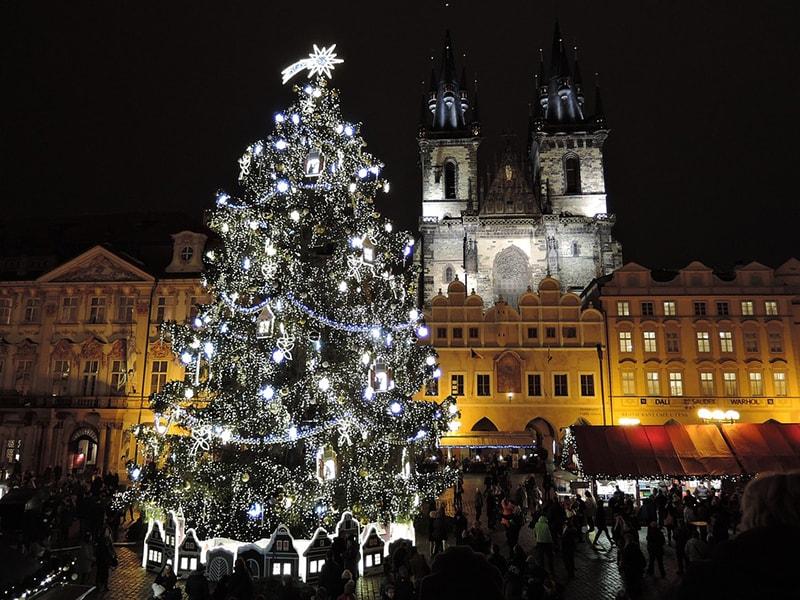 В центре Праги на Рождество