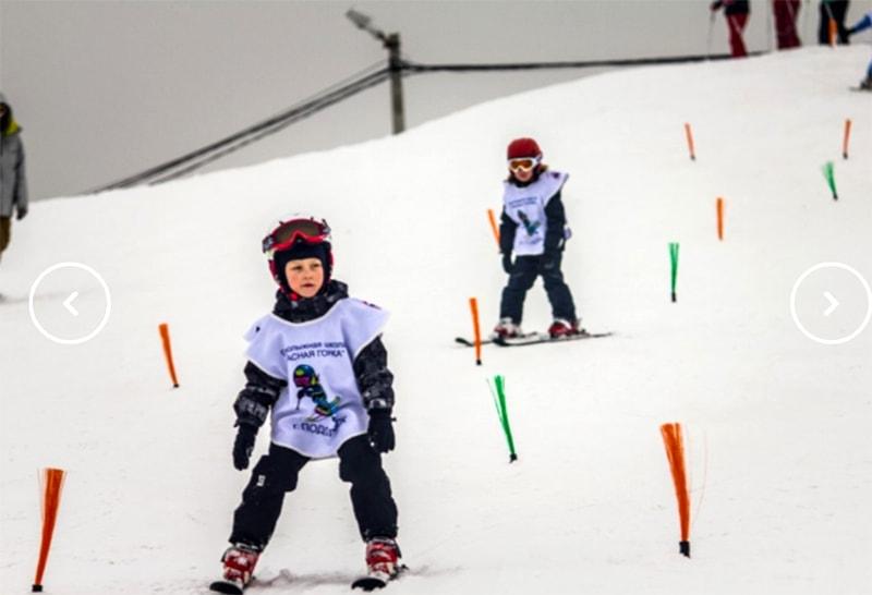 Обучение детей на горнолыжном курорте «Красная горка» в Подольске