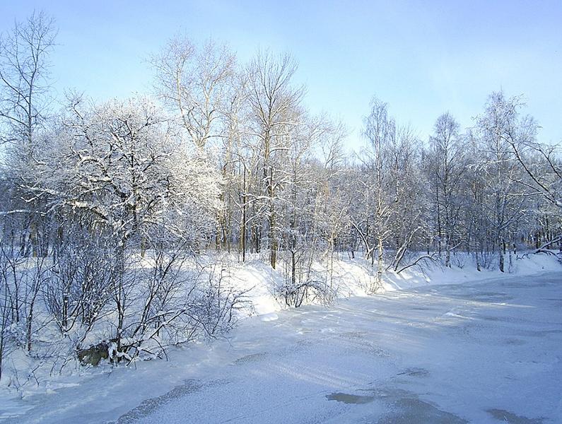 Зимний пейзаж в Карелии