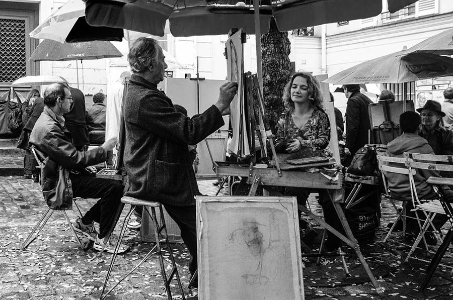 Уличные художники на Монмартре