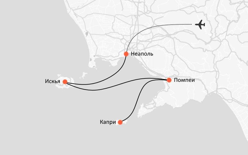Самостоятельный маршрут по Италии – схема