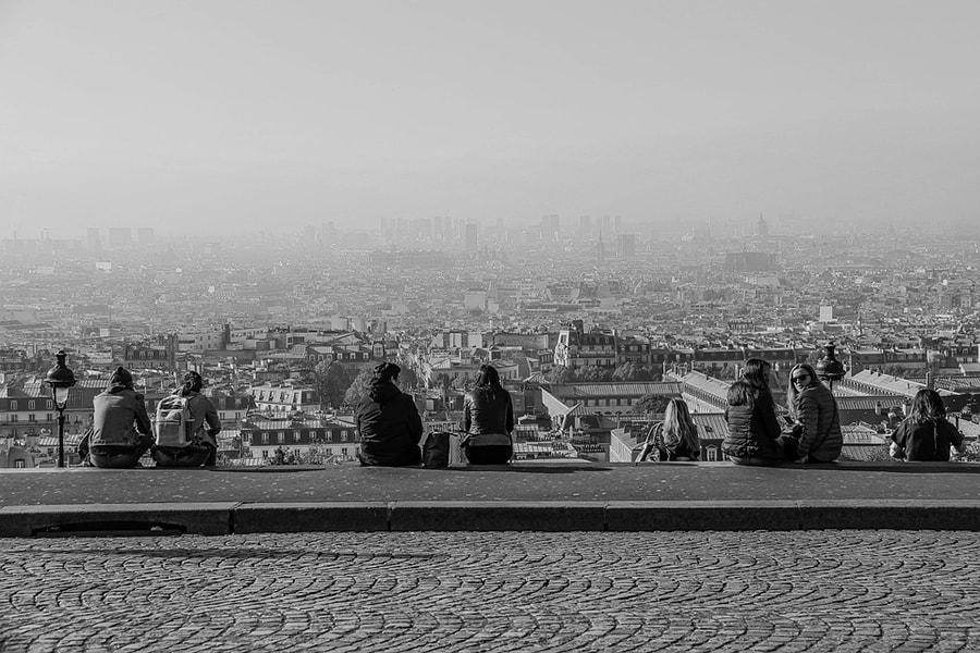 Вид на Париж с холма Сакре-Кёр