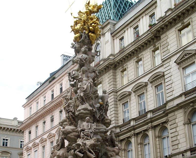 Фрагмент Чумной колонны в центре Вены / фото автора